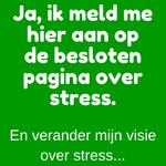 Aanmelden besloten pagina over Stress