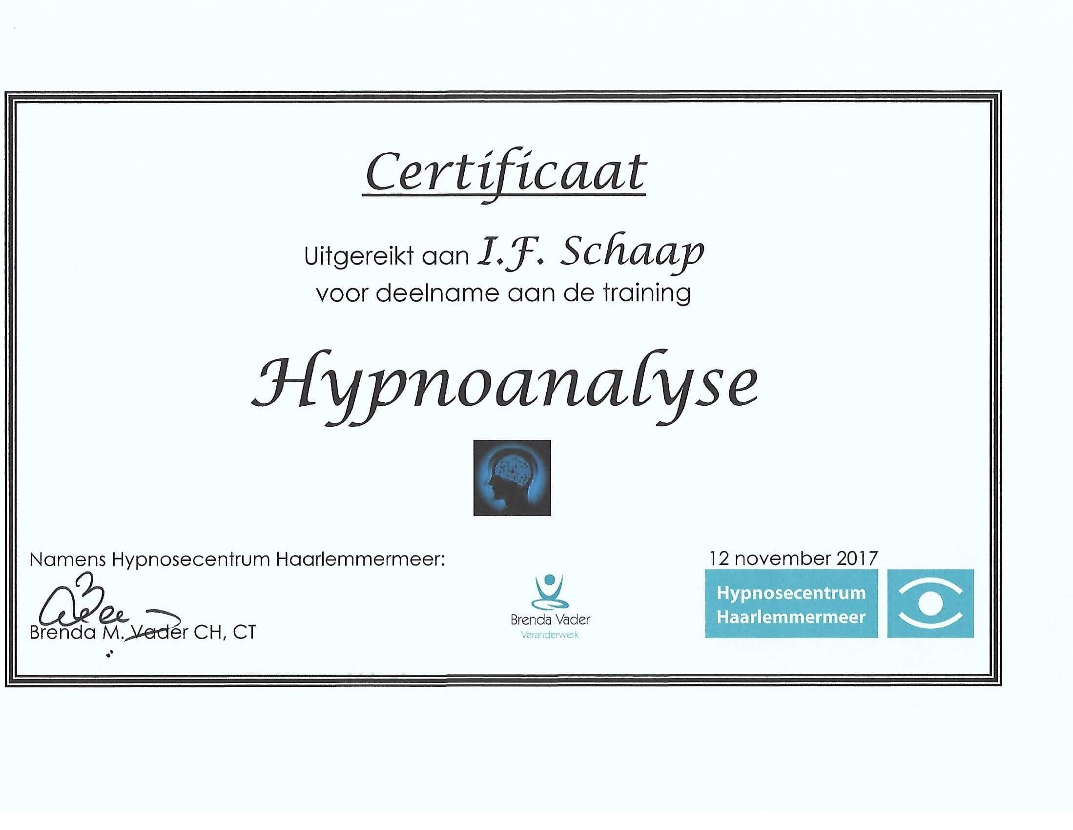 Hypnoanalyse bij Coaching Vitaal