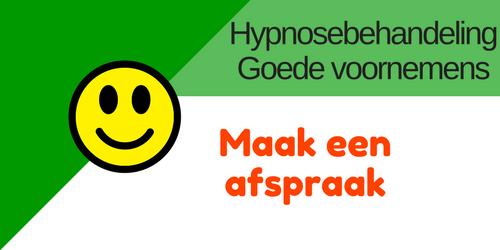 Hypnose behandeling Goede voornemens