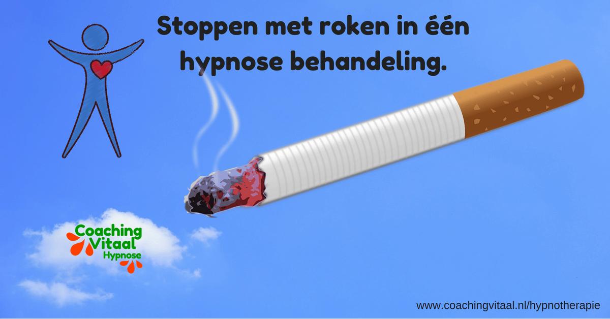 In één hypnose behandeling stoppen met roken in Nieuwkoop bij Coaching Vitaal