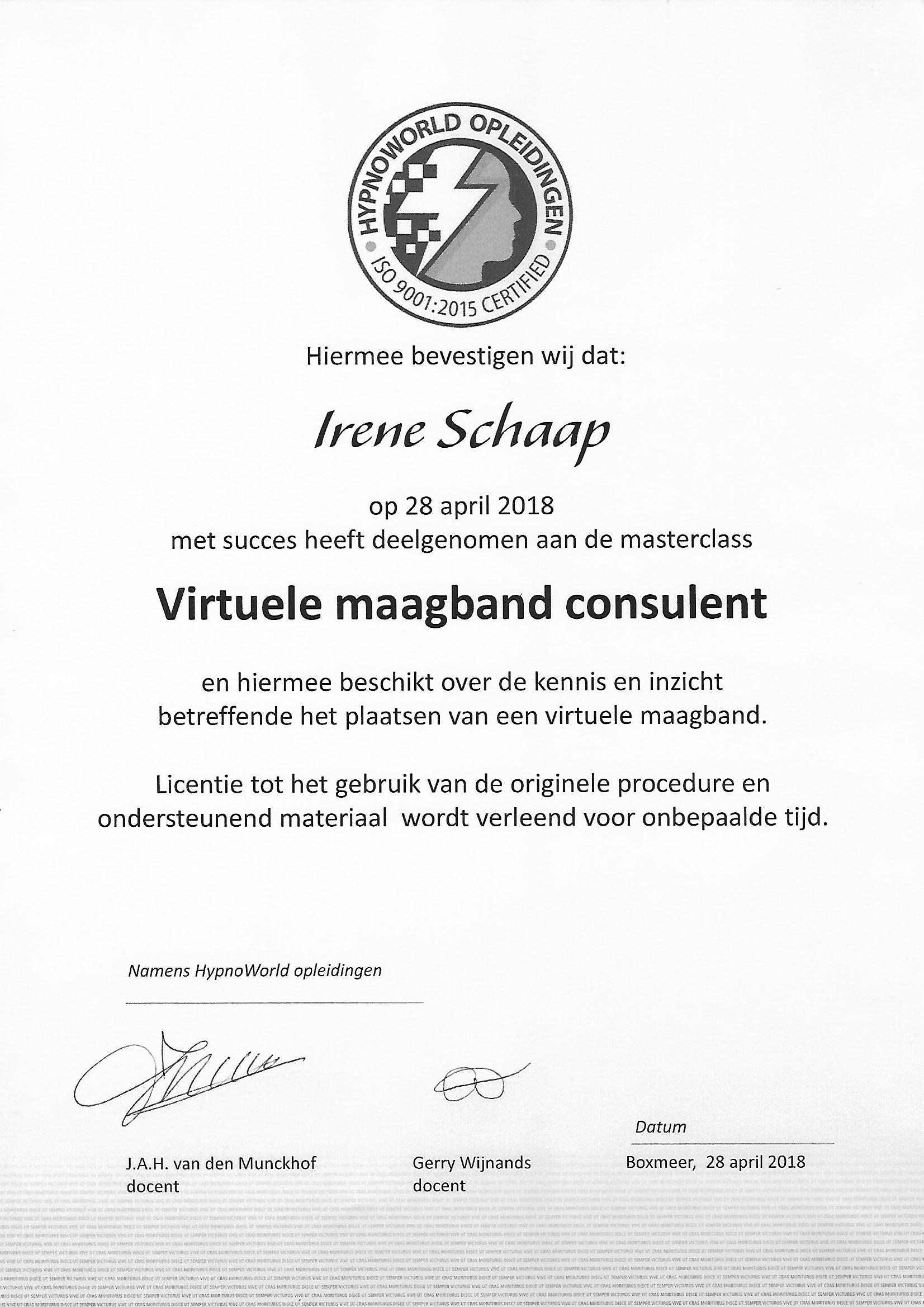 Irene Schaap, Virtuele Maagband Consulent in Nieuwkoop bij Coaching Vitaal